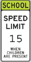 15 MPH speed limit