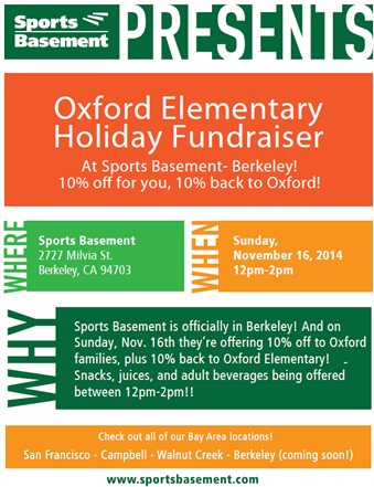 Sports Basement Oxford Fundraiser 2014