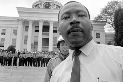 AL state troopers bar Dr. Martin Luther King from the state capitol, 3/25/1965 (AP)
